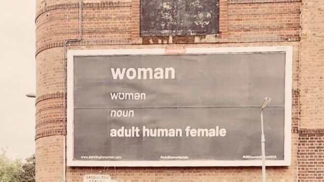 woman billboard